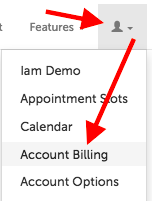 """Account Billing"" option"