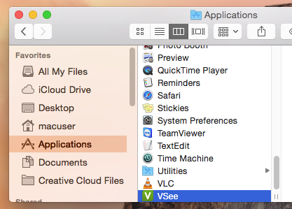 Applications folder
