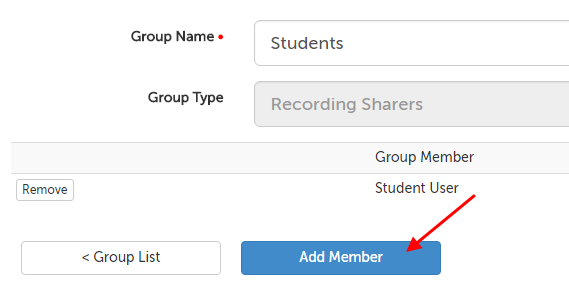 Add Member button