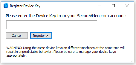 Device key request